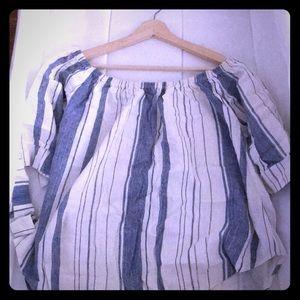 Stylish White & Baby Blue shirt